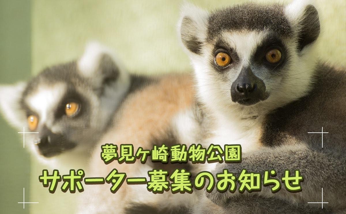 夢見ヶ崎動物公園サポーターを募集しています